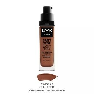 NYX Can't Stop Won't Stop Foundation Deep Cool